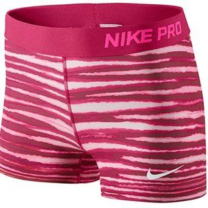 "Nike Pro 3"" Red Tiger Short Tennis Athletic Shorts"